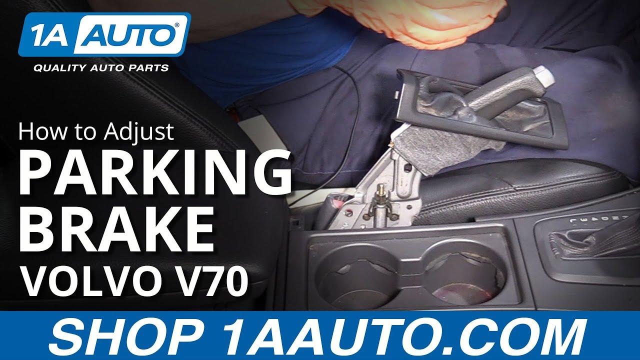 How to Adjust Parking Brake 00-07 Volvo V70