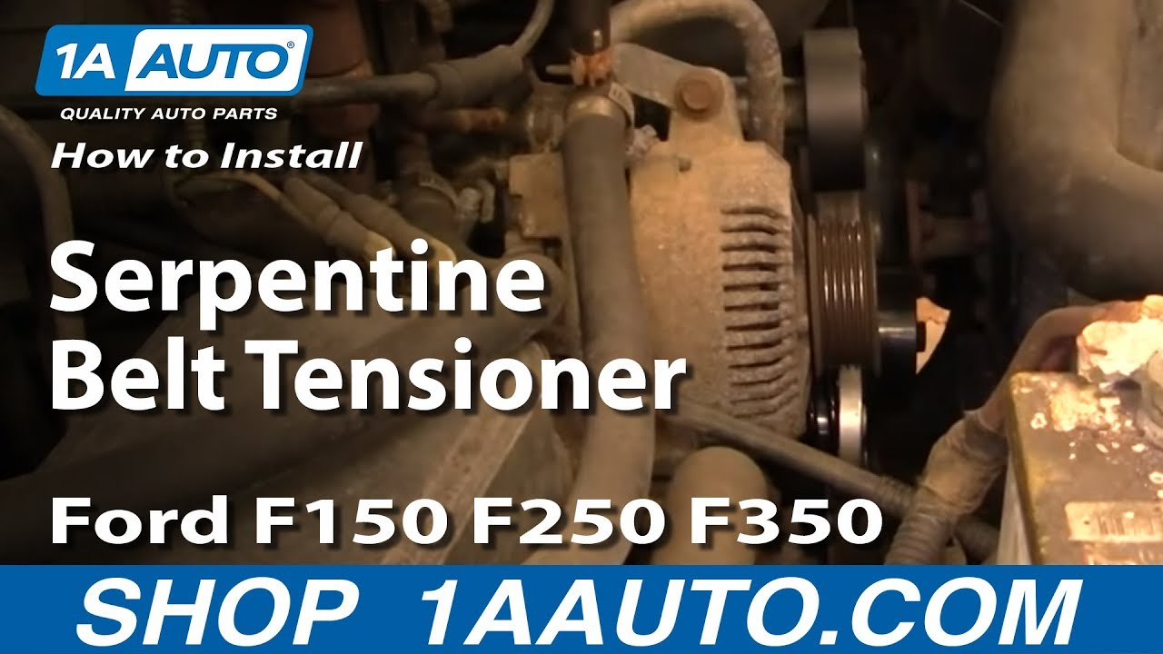 How To Replace Serpentine Belt Tensioner    Ford    9296    F150