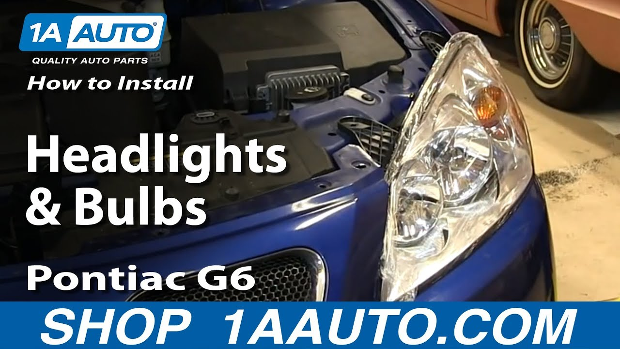 How to Replace Headlights and Bulbs 05-10 Pontiac G6 Sedan