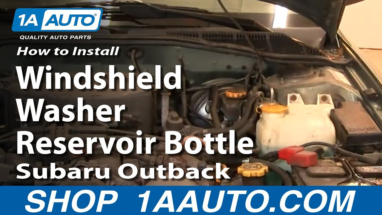 How To Replace Windshield Washer Reservoir 01-04 Subaru Outback
