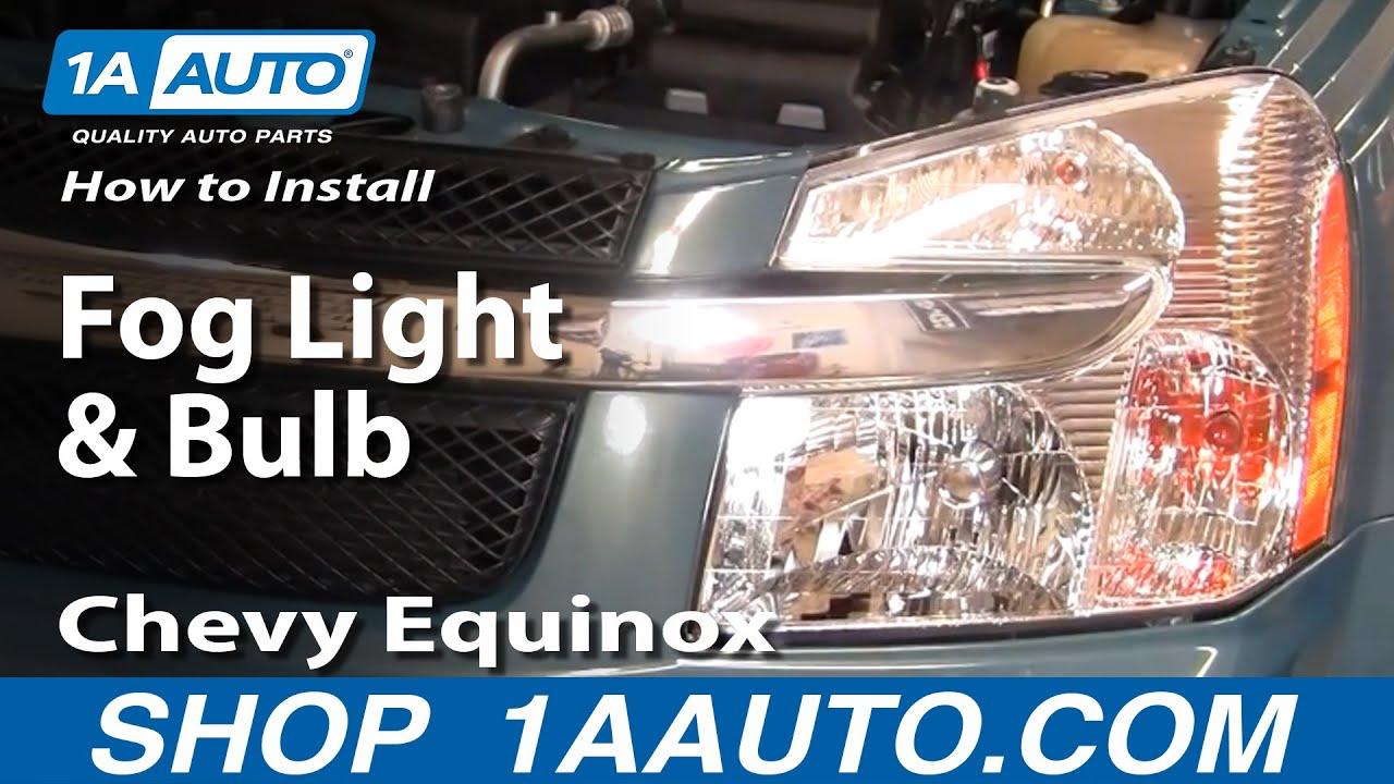 How To Replace Fog Light 07-09 Chevy Equinox