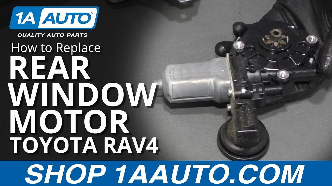 How to Replace Rear Window Motor 05-16 Toyota RAV4
