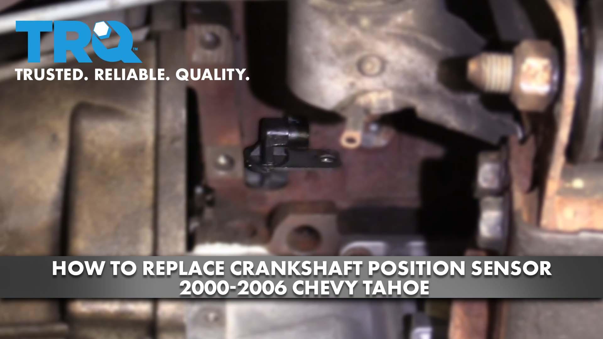 How To Replace Crankshaft Position Sensor 2000-06 Chevy Tahoe
