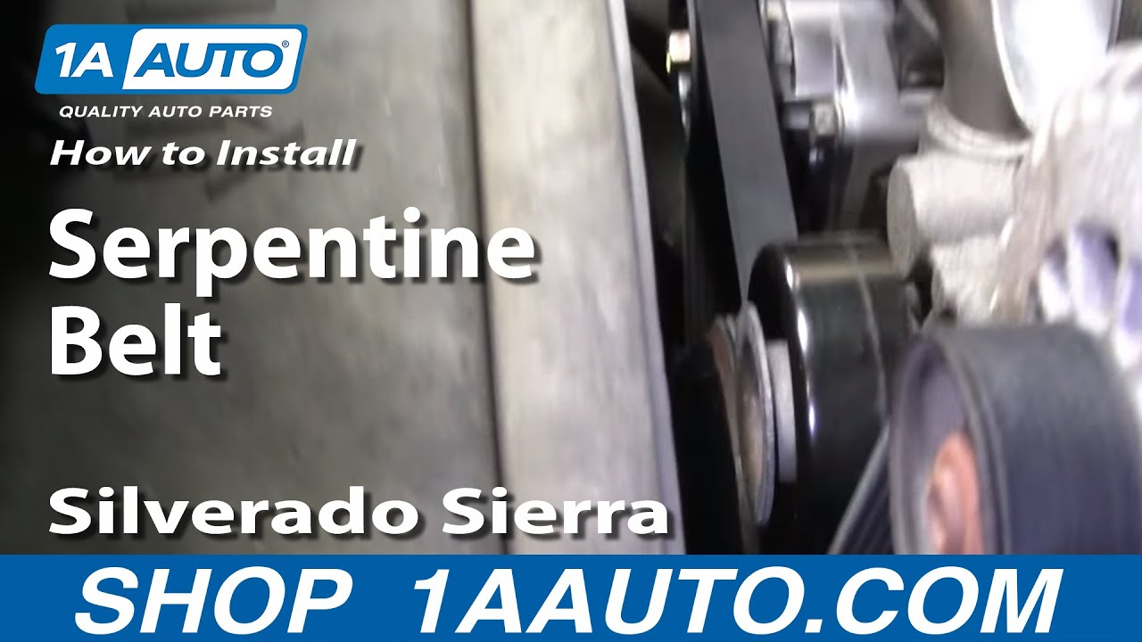 How To Replace Serpentine Belt 99