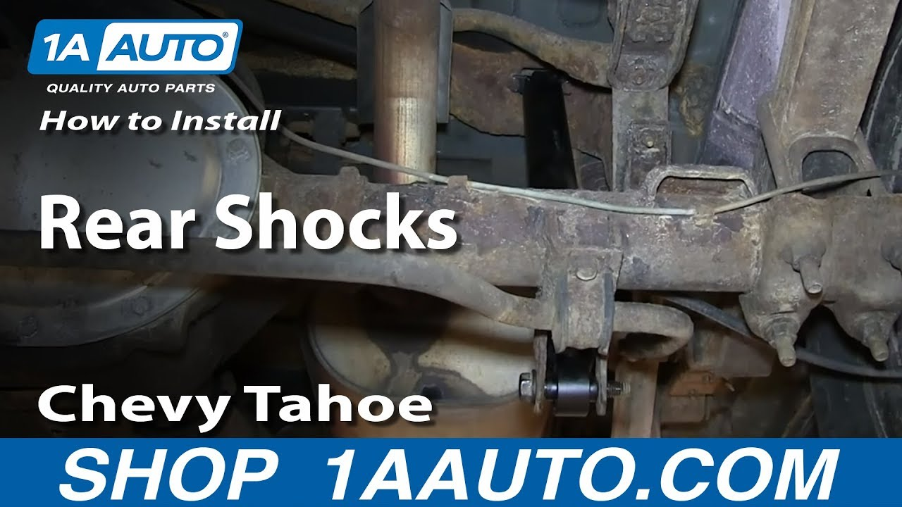 How To Replace Rear Shocks 95 00 Chevy Tahoe