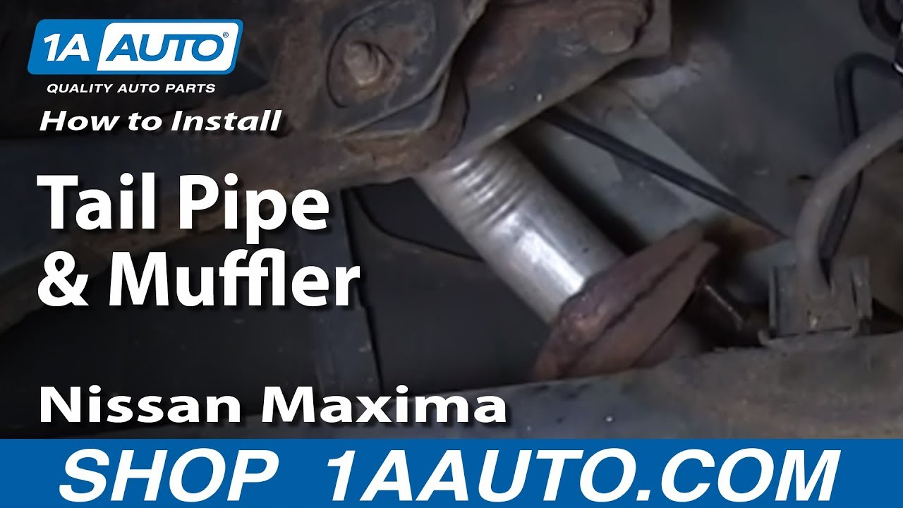 How to Replace Muffler with Gasket 00-03 Nissan Maxima