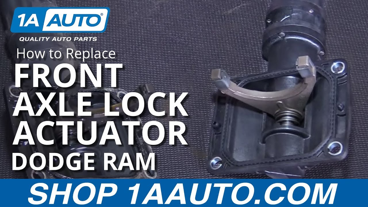 How to Replace Front Axle Lock Actuator 06-16 Dodge Ram 1500