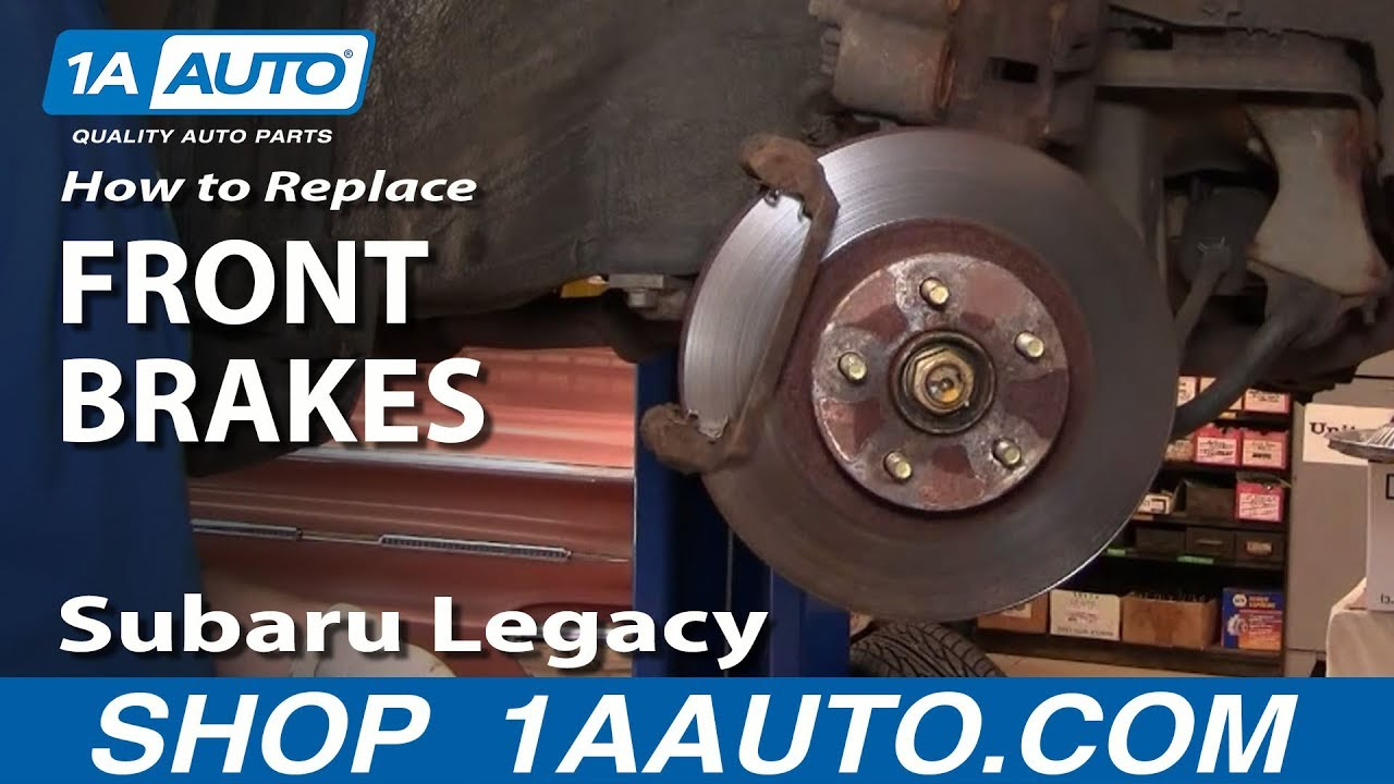 How To Replace Front Brakes 94-99 Subaru Legacy