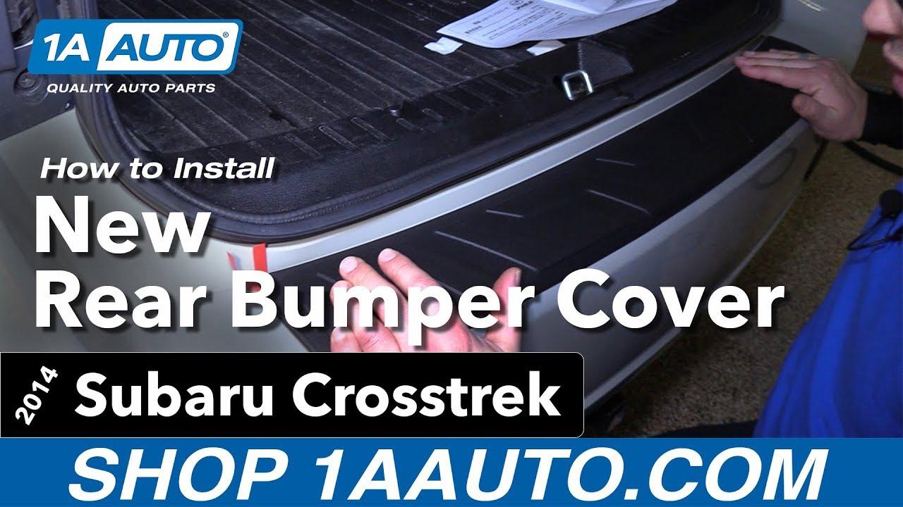 How to Install Rear Bumper Step Cover 13-17 Subaru Crosstrek