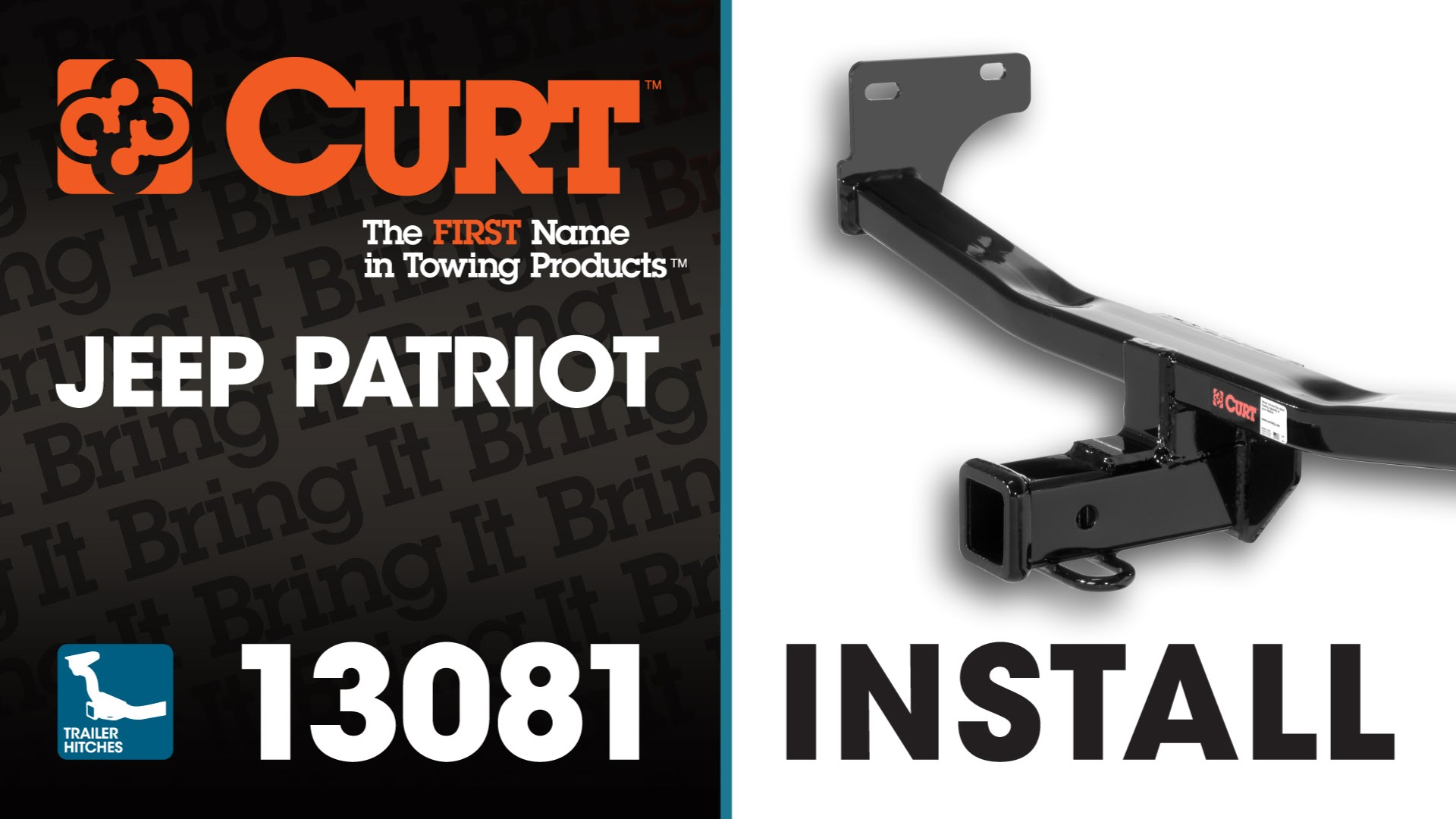 Trailer Hitch Install CURT 13081 on a Jeep Patriot