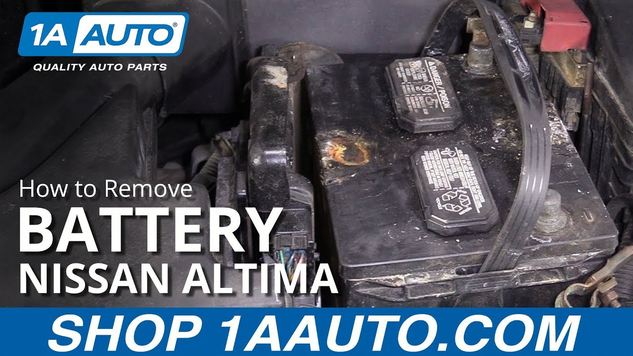 How to Remove Battery 06-11 Nissan Altima