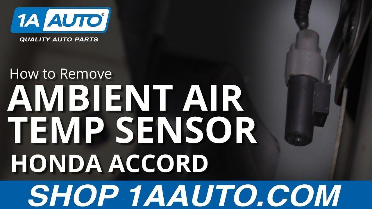 How to Remove Ambient Temp Sensor 03-07 Honda Accord