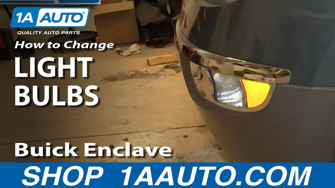 How To Change Bulbs on Headlights, Fog Lights, Turn Signals 08-14 Buick Enclave