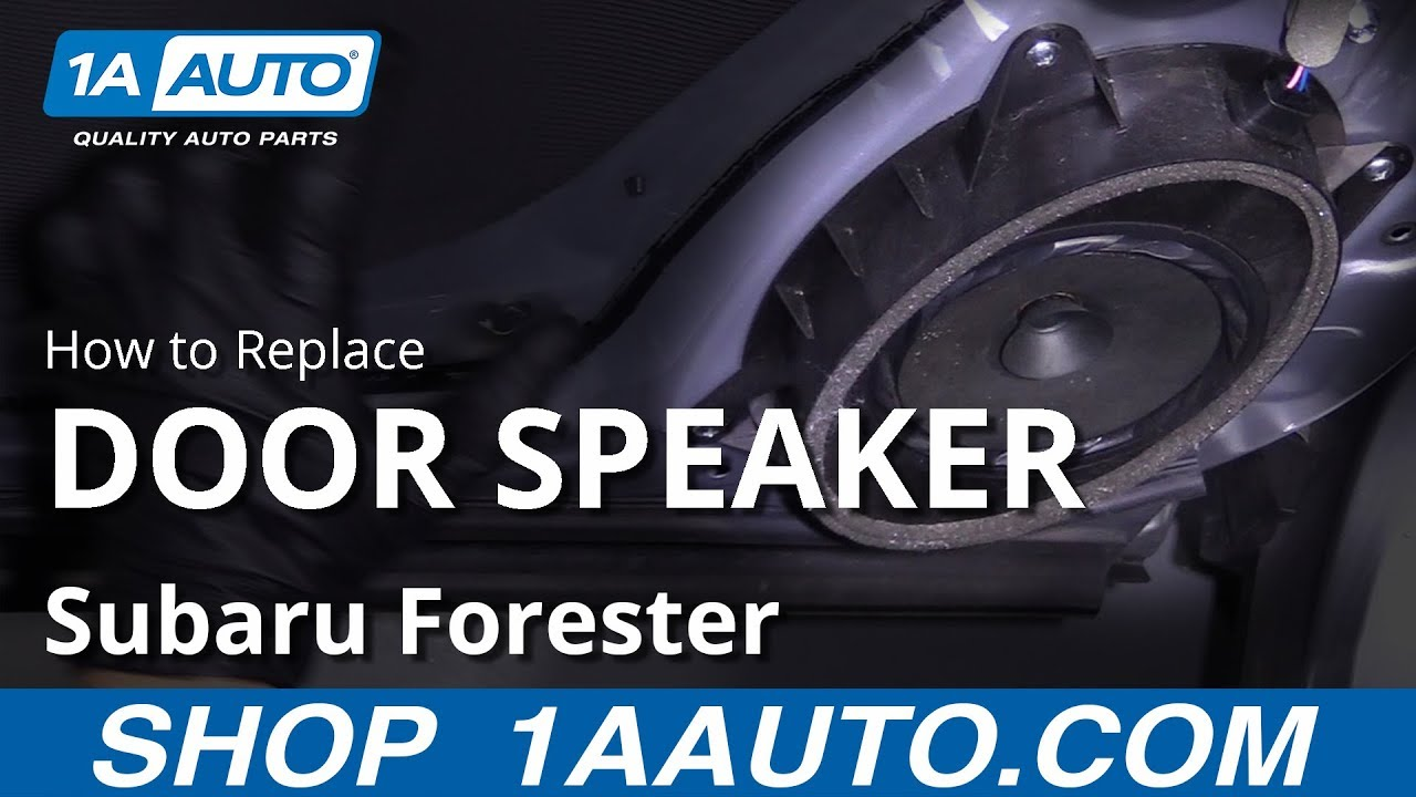 How to Replace Door Speaker 13-18 Subaru Forester