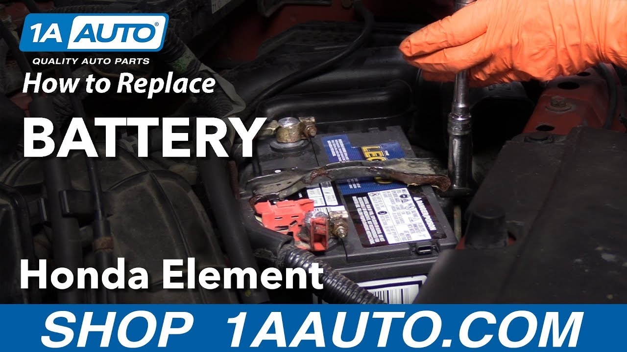 How to Replace Battery 03-11 Honda Element