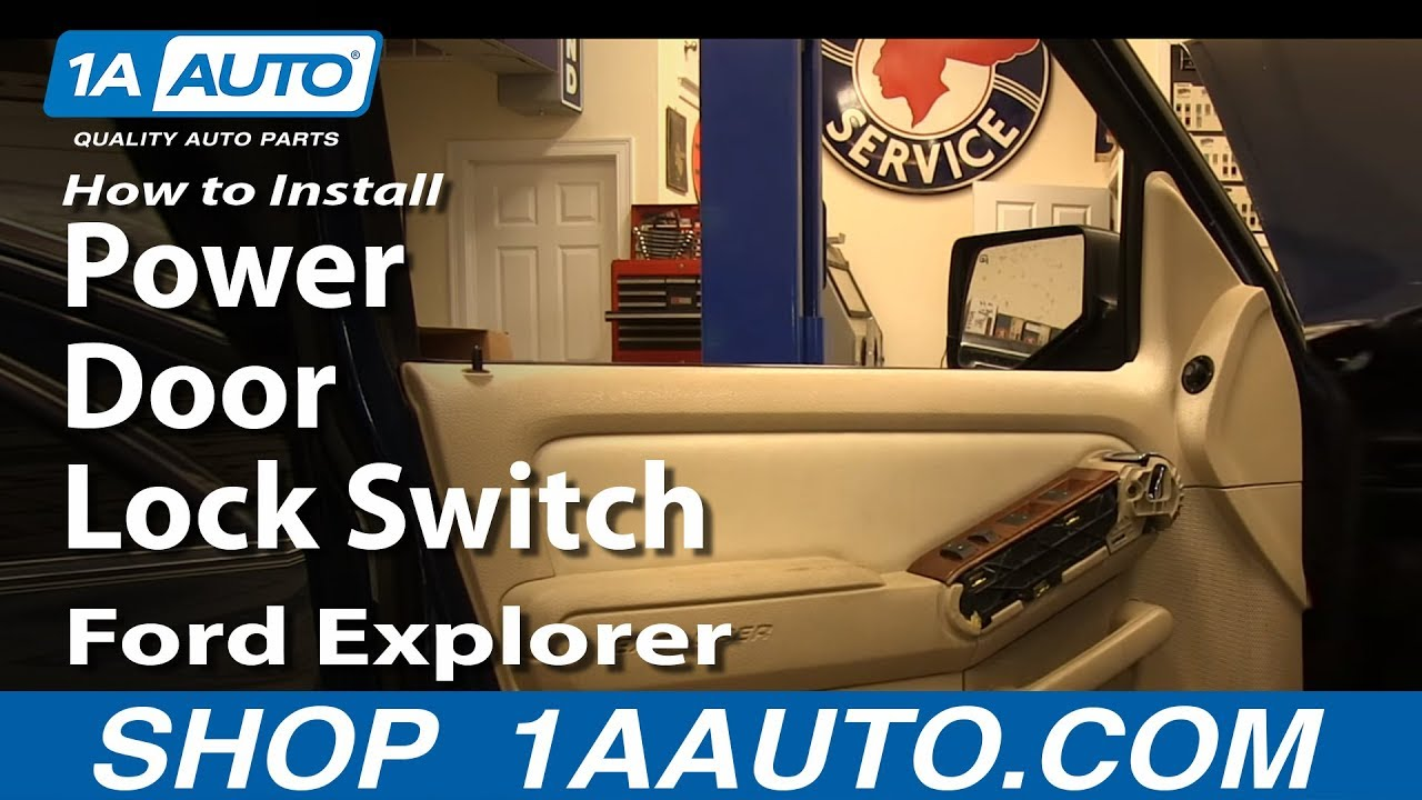 How to Replace Power Door Lock Switch 06-10 Ford Explorer