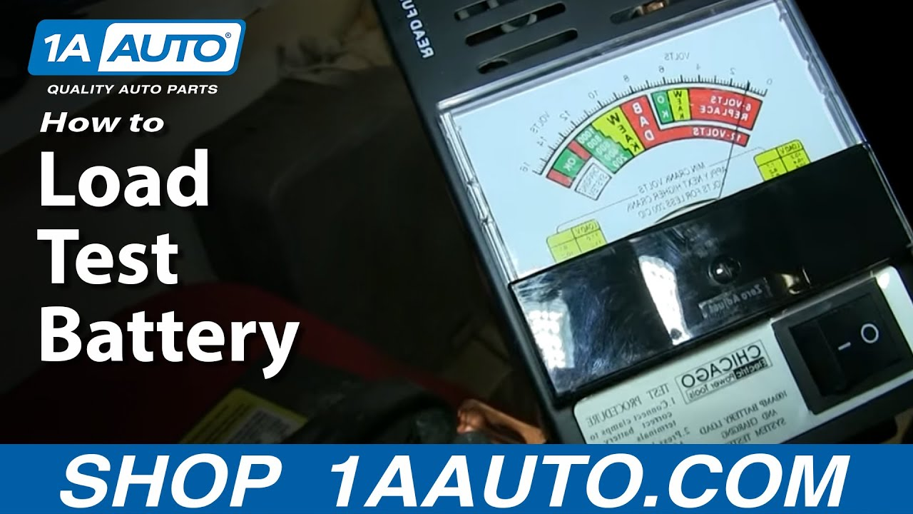 How To Perform a Battery Load Test to Check Battery Condition