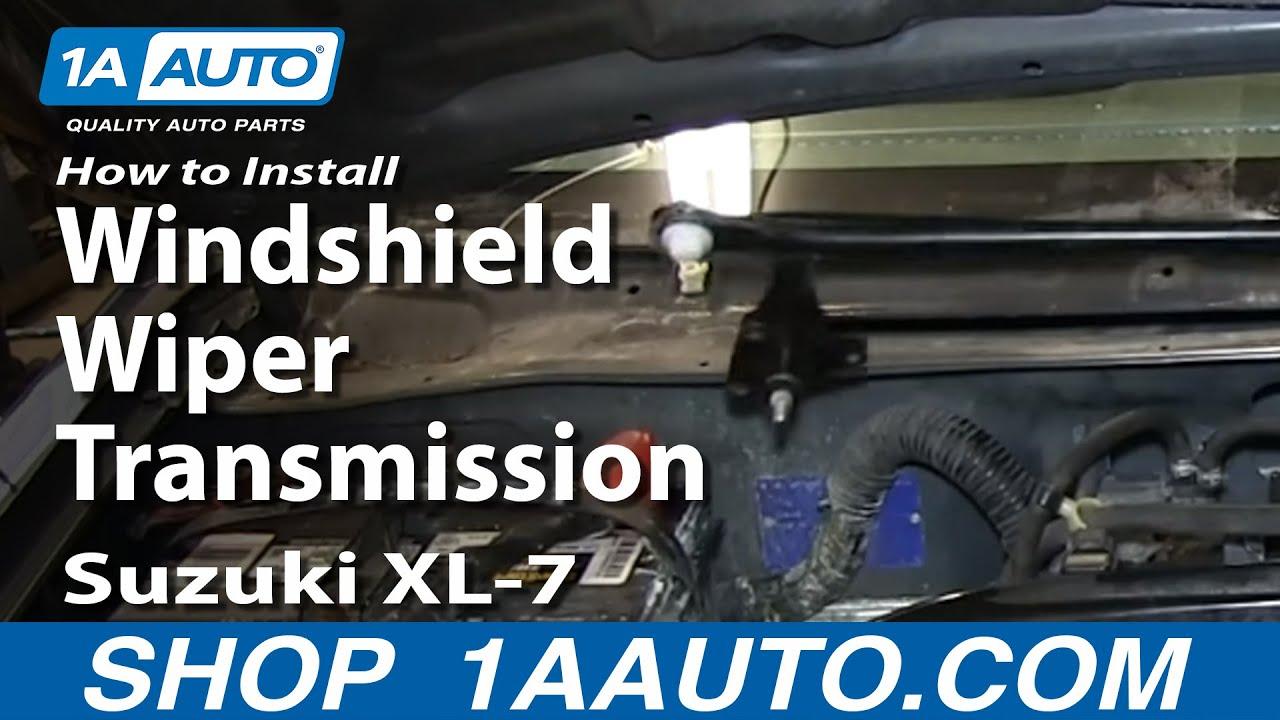 How to Replace Windshield Wiper Transmission 02-06 Suzuki XL-7