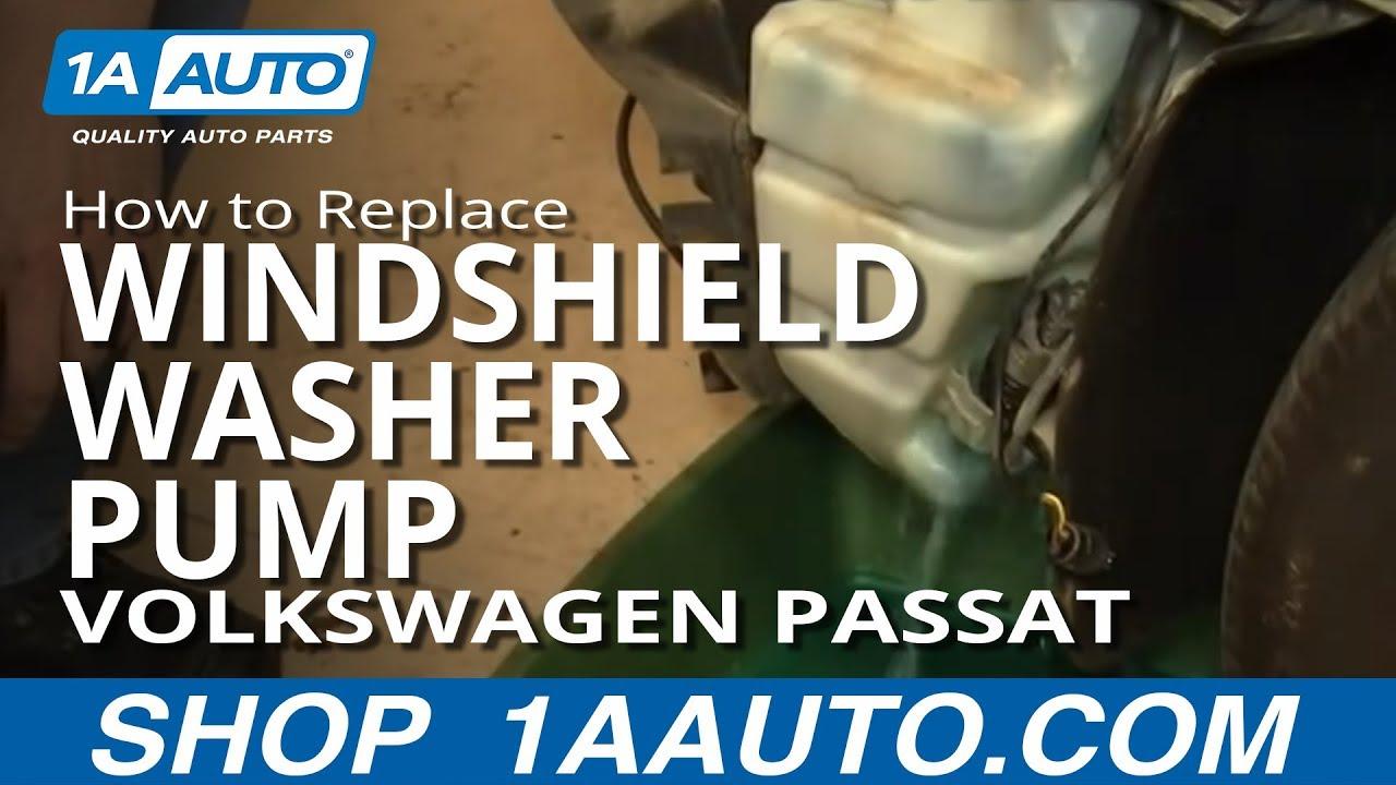 How To Replace Windshield Washer Pump 02-05 Volkswagen Passat