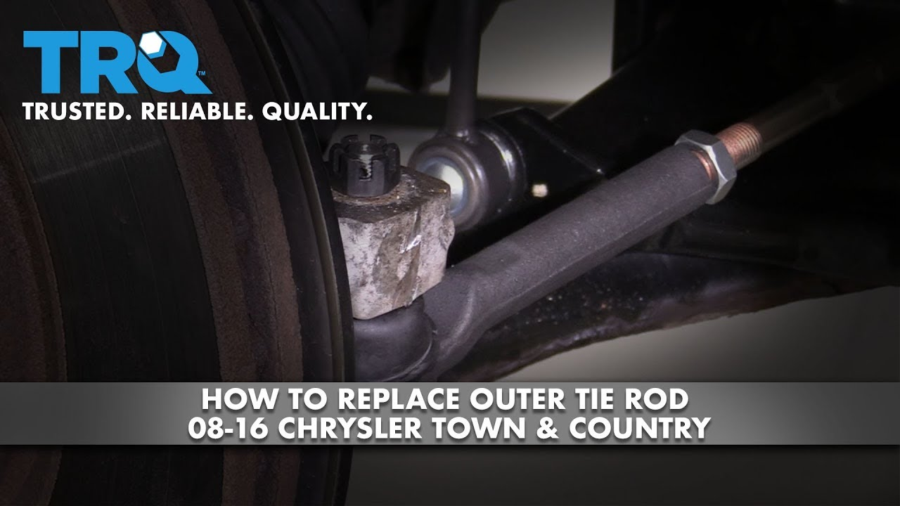 How to Replace Front Outer Tie Rod 08-18 Chrysler Town & Country