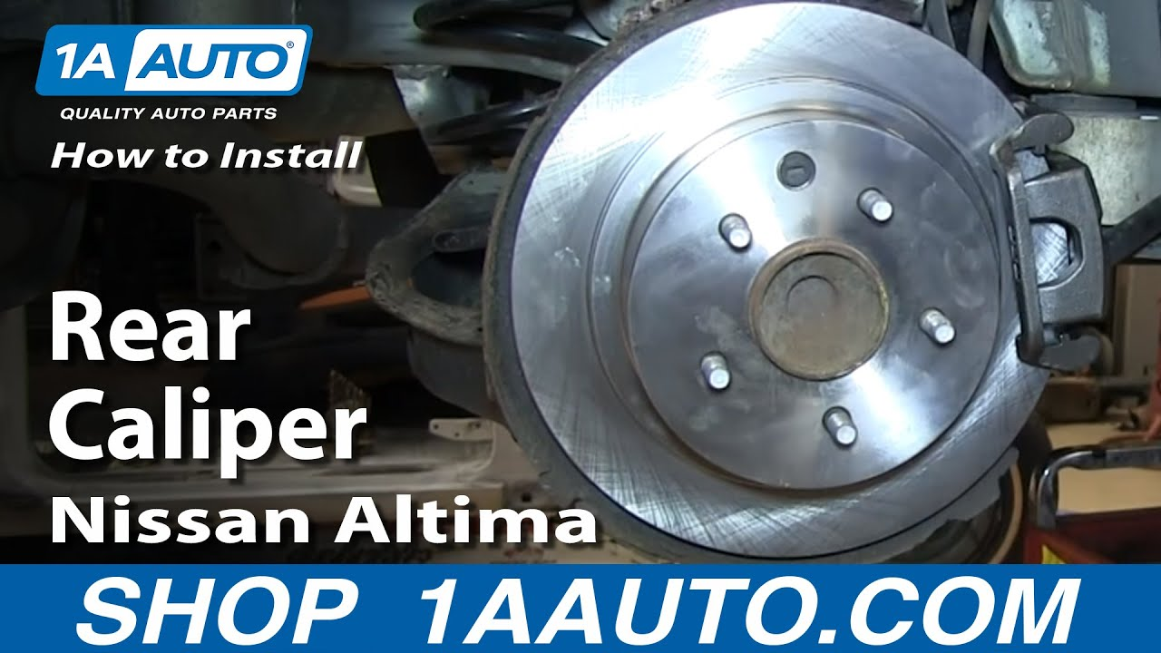 How To Replace Rear Caliper 2002-06 Nissan Altima