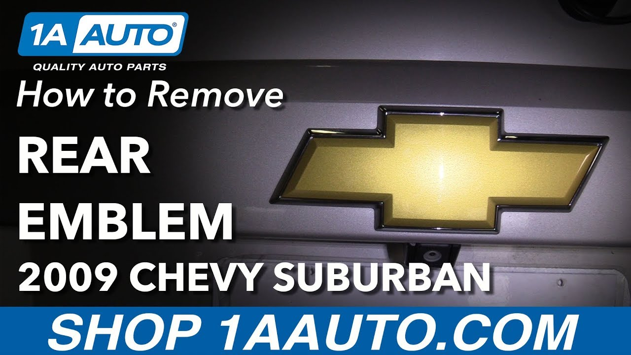 How to Replace Rear Emblem 07-14 Chevrolet Suburban