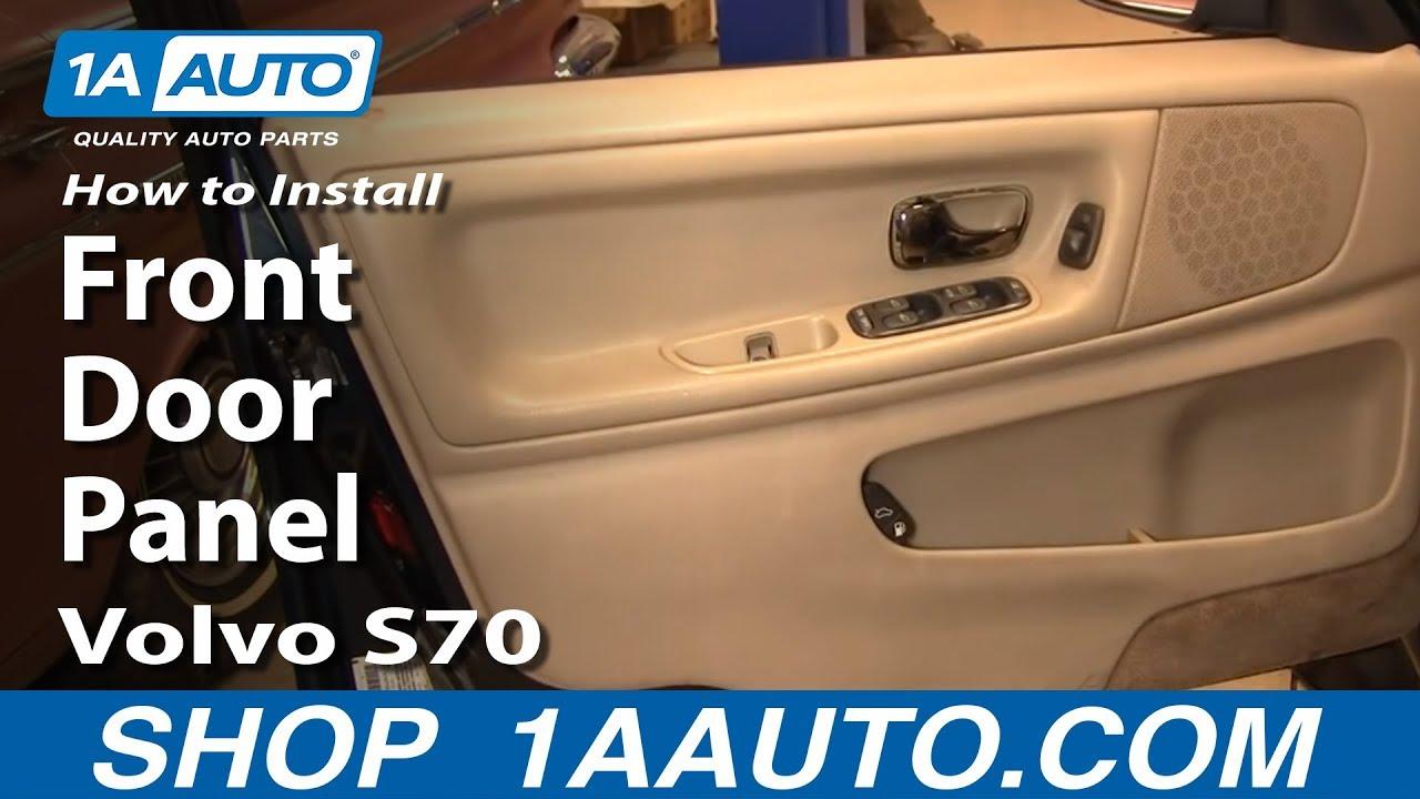 How To Remove Front Door Panel 98-00 Volvo S70 Jetta Door Wiring Harness Removal on door decals, door switch, door wiring boots, door speaker, door shocks, door wheels, door strut,