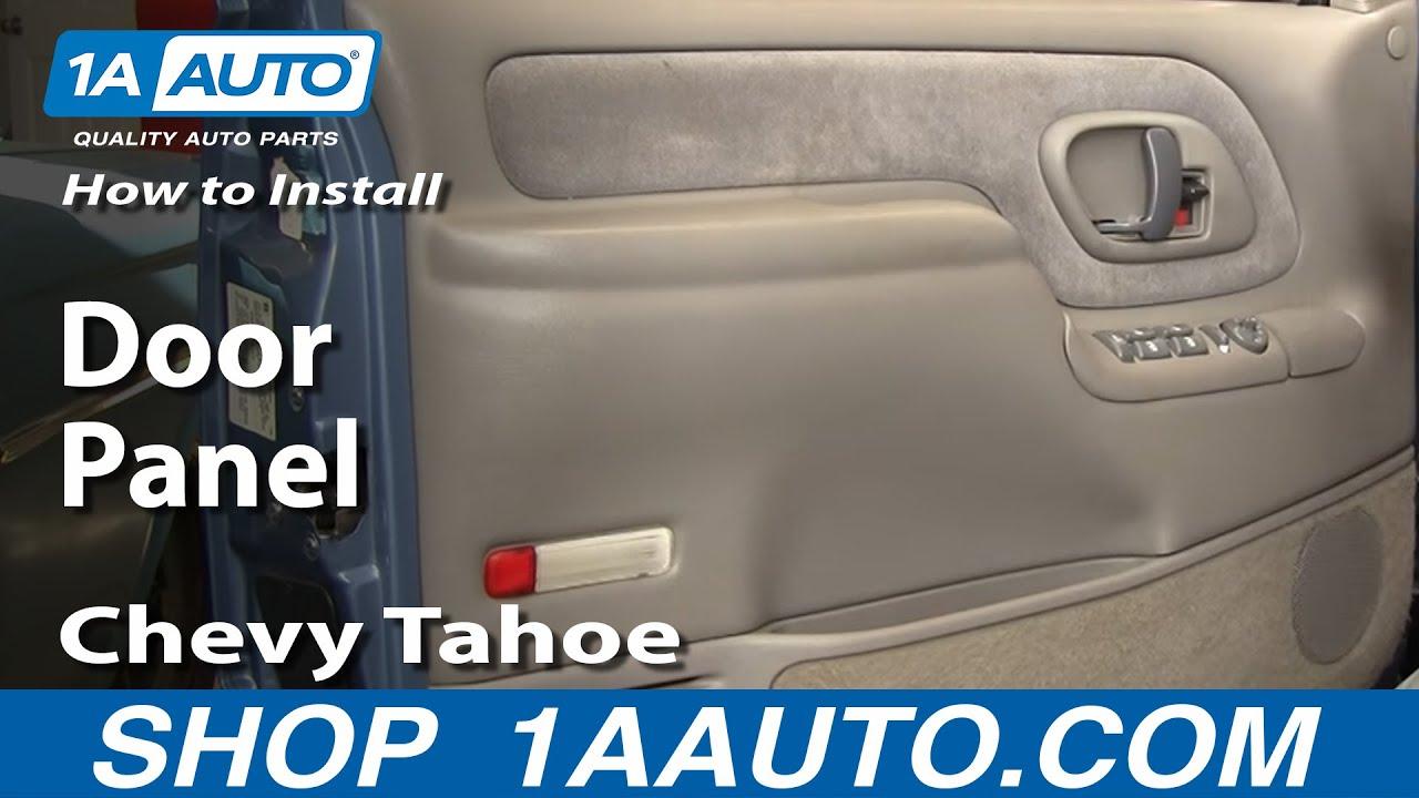How To Remove Door Panel Chevy Tahoe 95-98