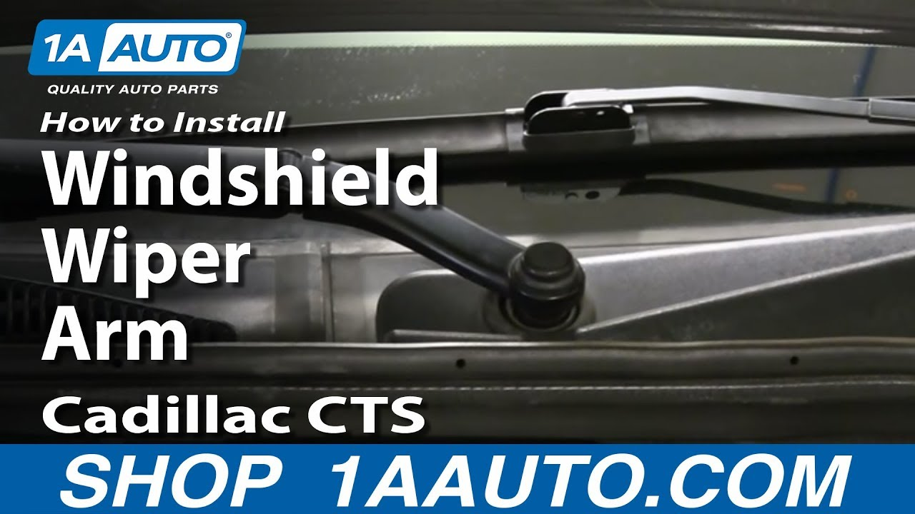 How To Replace Windshield Wiper Arm 03-10 Cadillac CTS