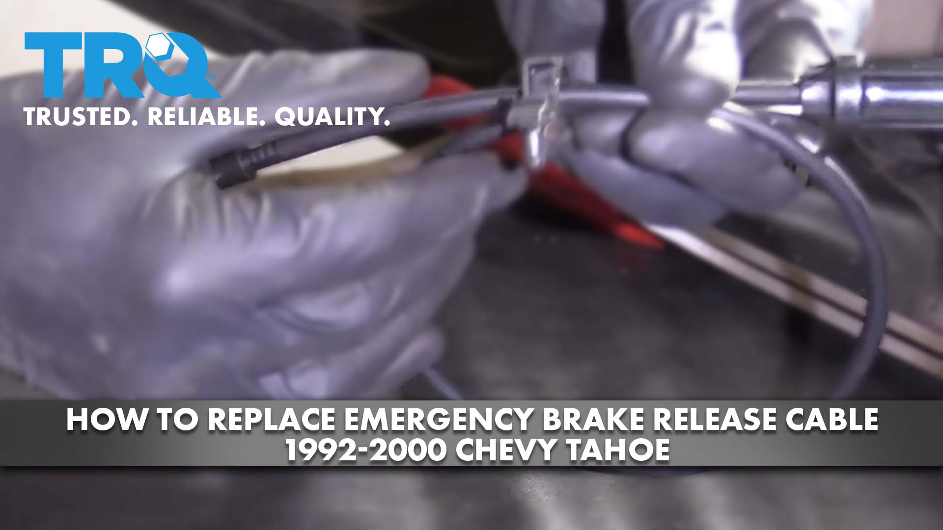 How To Replace Emergency Brake Release Cable 1992-2000 Chevy Tahoe