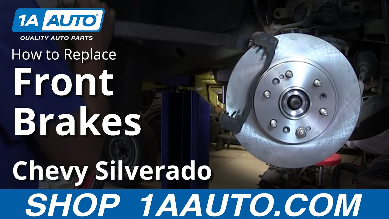 How to Replace Front Brakes 07-14 Chevy Silverado Truck