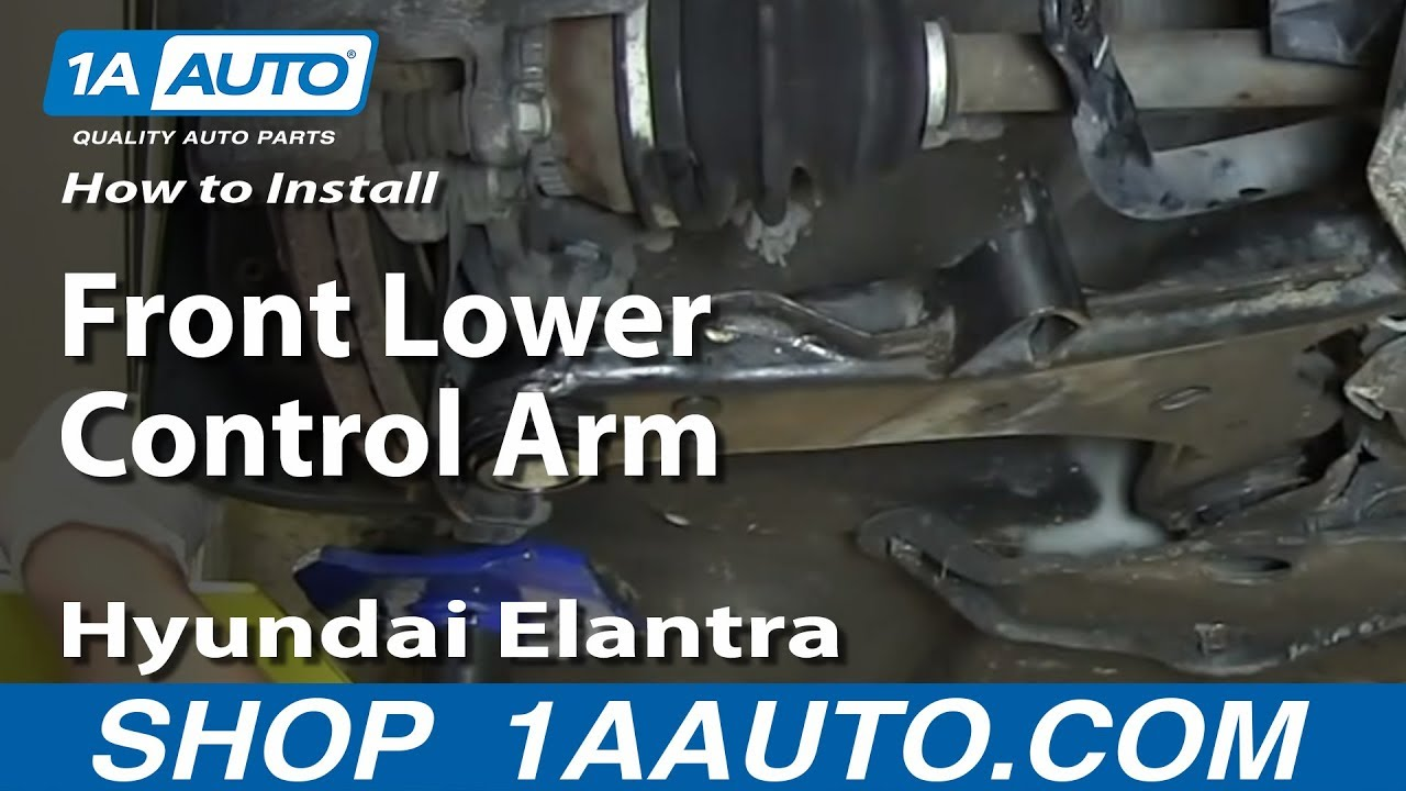 How To Replace Front Lower Control Arm 01-06 Hyundai Elantra