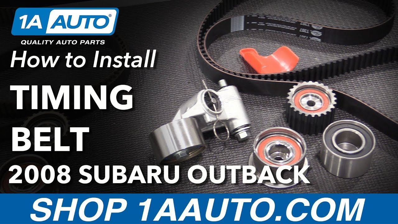 How to Replace Timing Belt Tensioner and Pulleys 06-09 Subaru Outback
