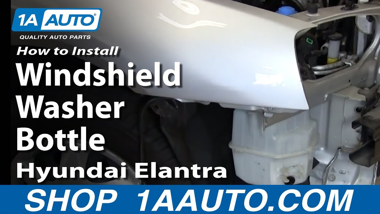 How to Replace Windshield Washer Reservoir 01-06 Hyundai Elantra