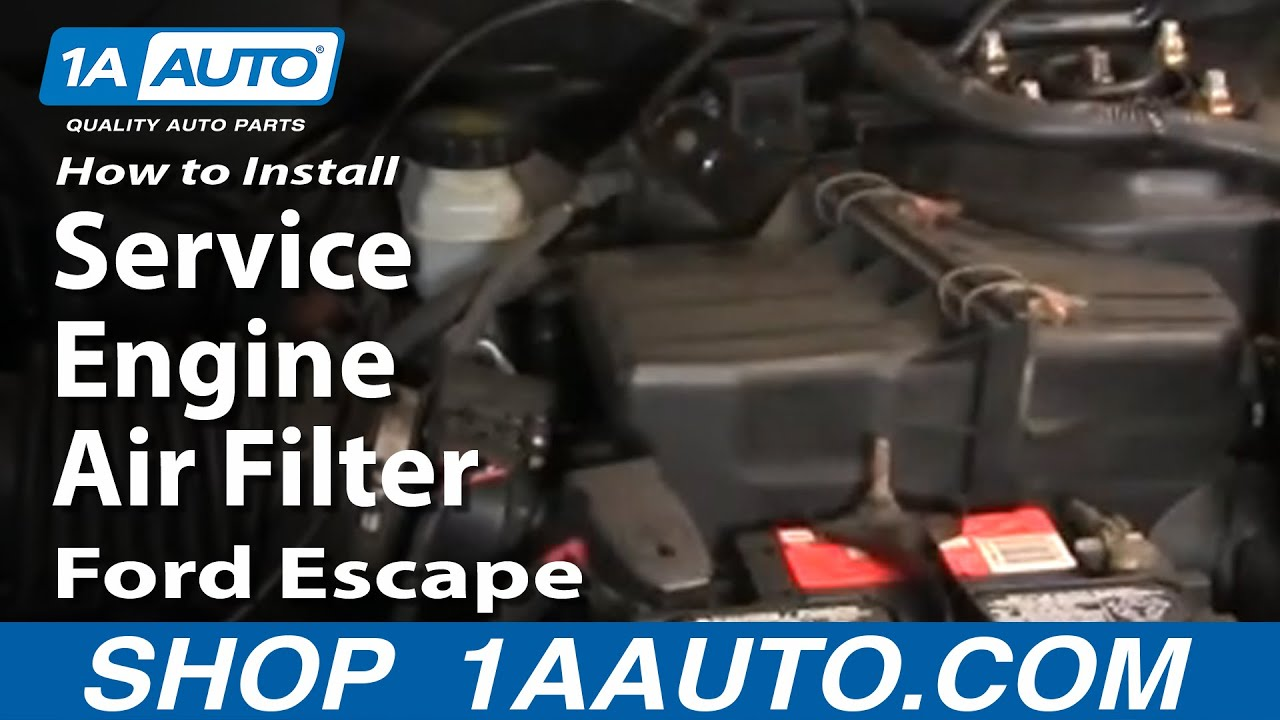 How To Replace Engine Air Filter 01-11 Ford Escape
