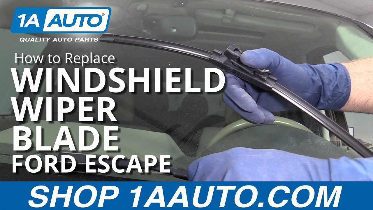 How to Replace Windshield Wiper Blade 08-12 Ford Escape
