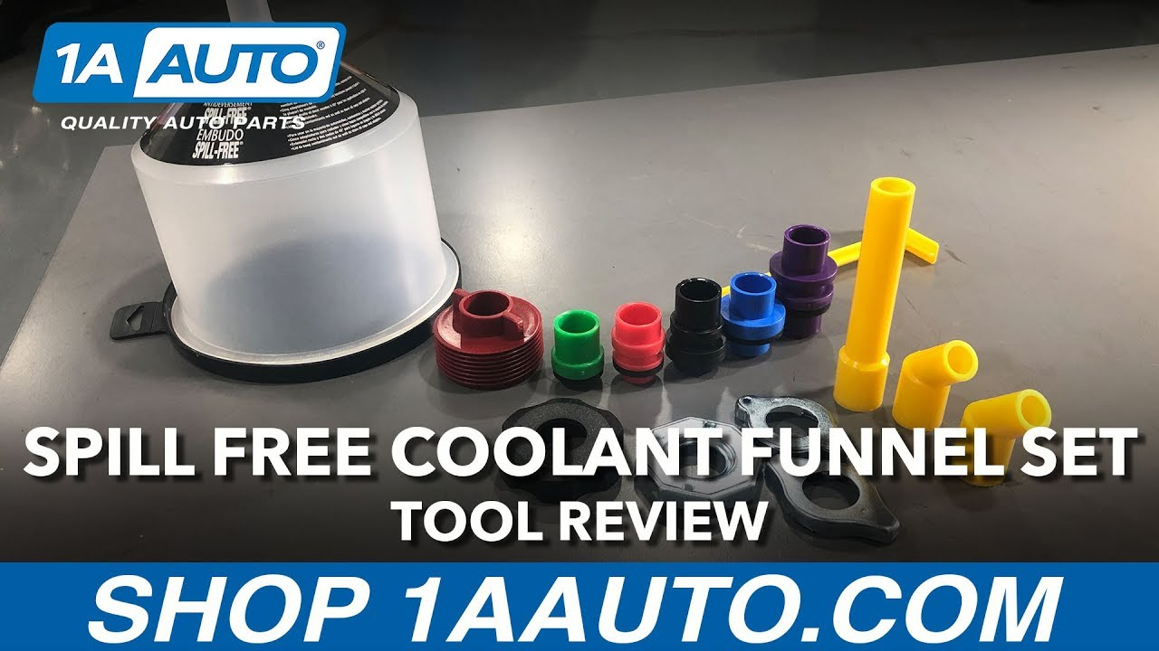 Spill Free Coolant Funnel Set