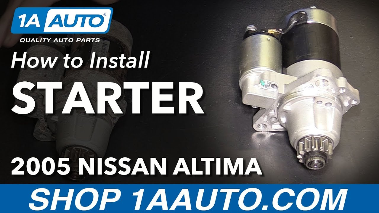 How to Replace Starter 02-06 Nissan Altima L4 2.5L
