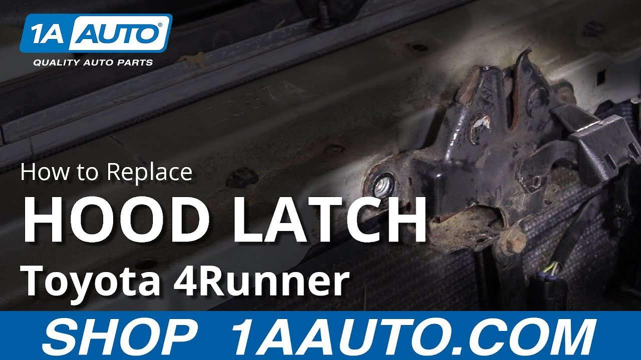 How to Replace Hood Latch 02-09 Toyota 4Runner