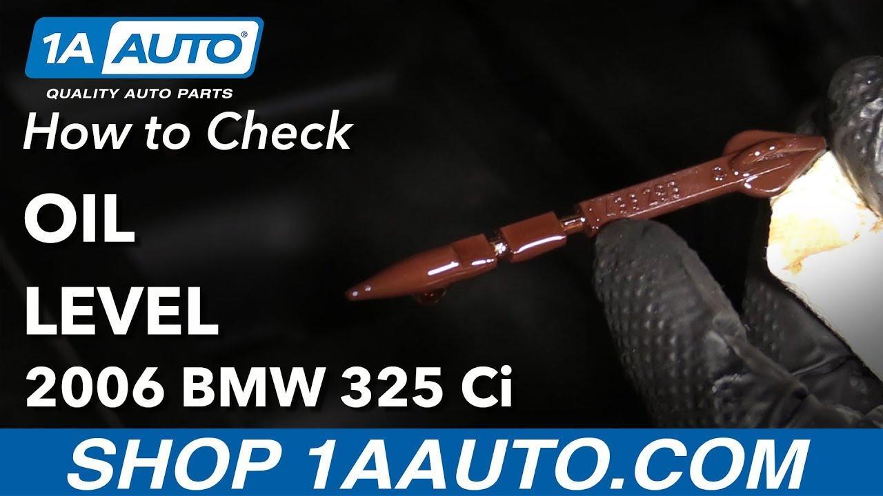 How to Check Oil Level 04-13 BMW 325Ci E46