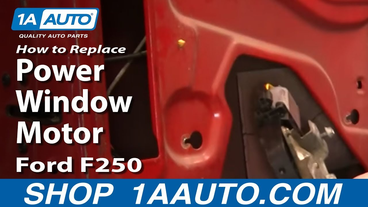 How to Replace Power Window Motor 00-10 Ford F250 Super Duty Truck