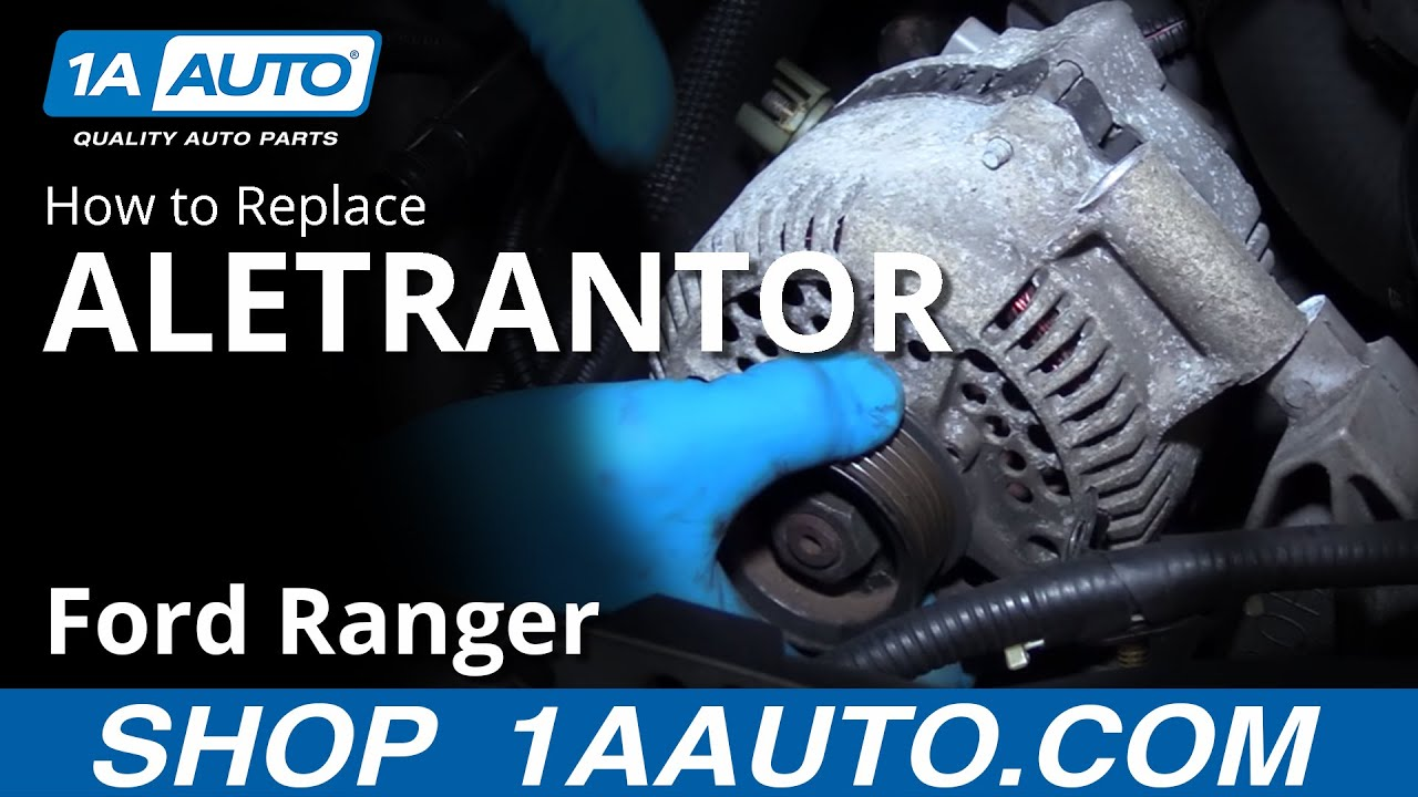 How to Replace Alternator 98-12 Ford Ranger 4 0L V6