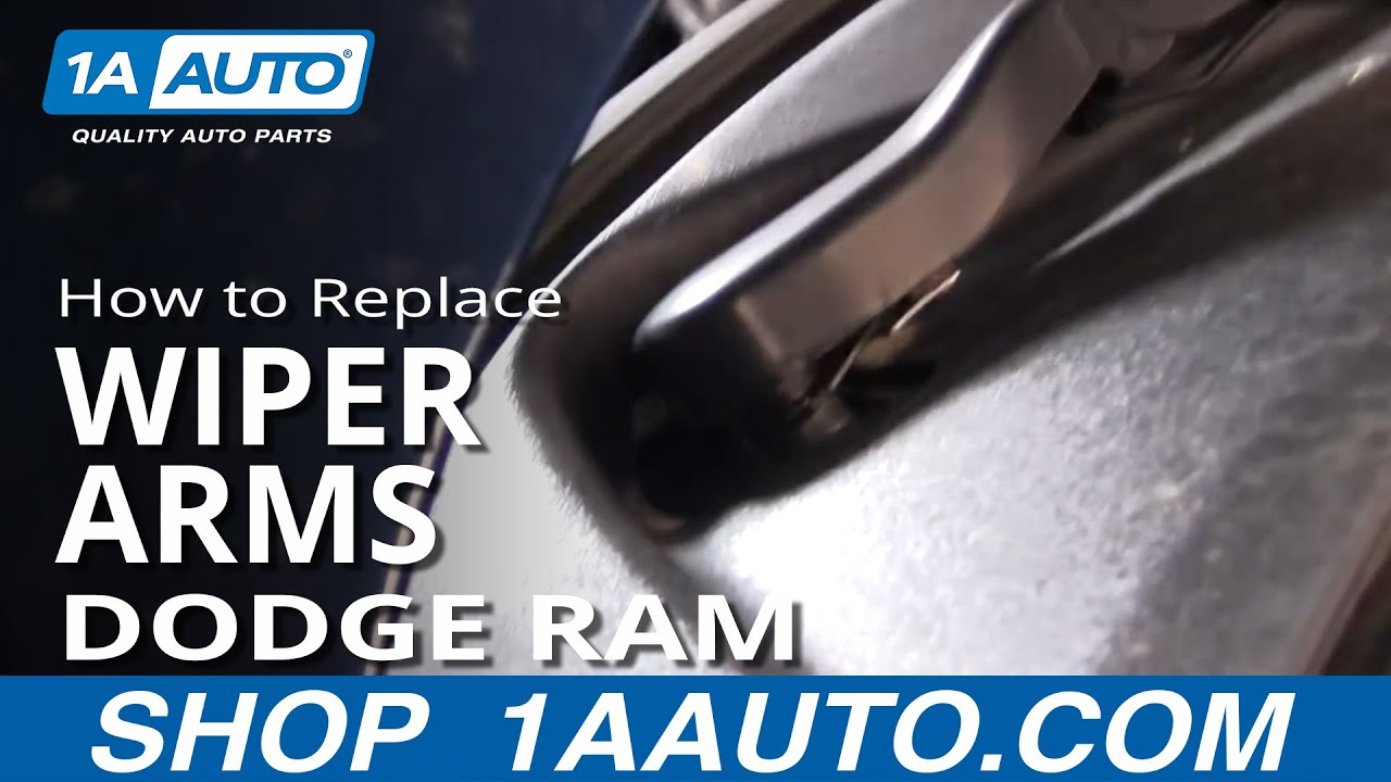 How to Replace Windshield Wiper Arms 02-04 Dodge Ram 1500
