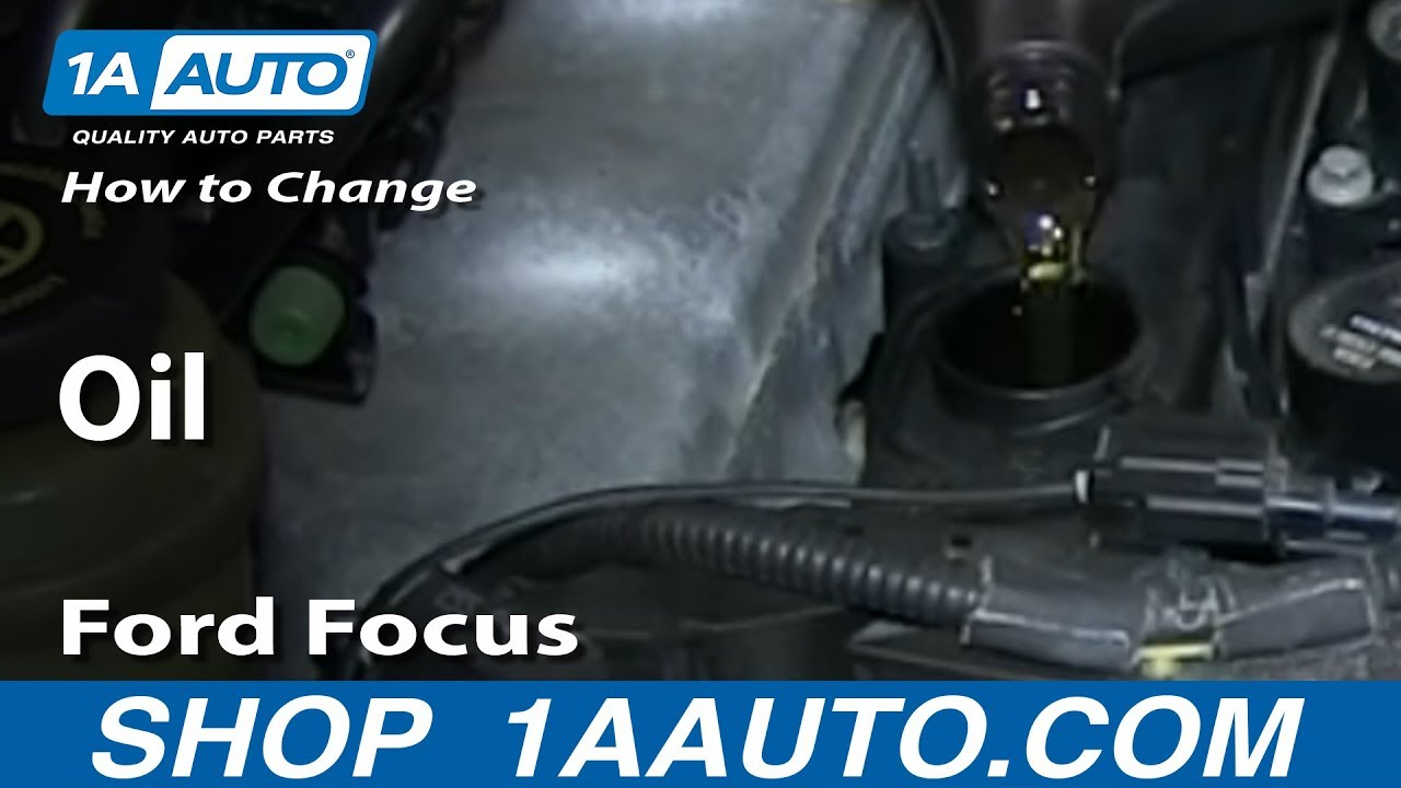 How To Change Engine Oil00-07 Ford Focus
