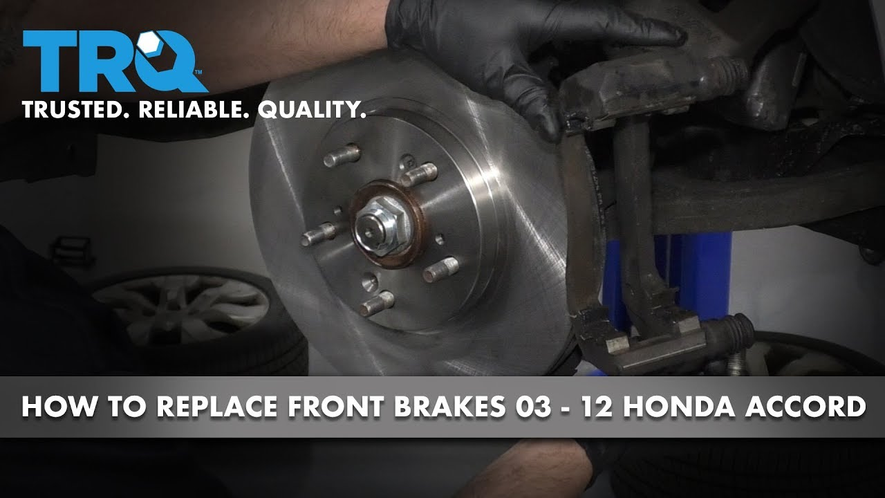 How to Install Front Brakes 2003-12 Honda Accord
