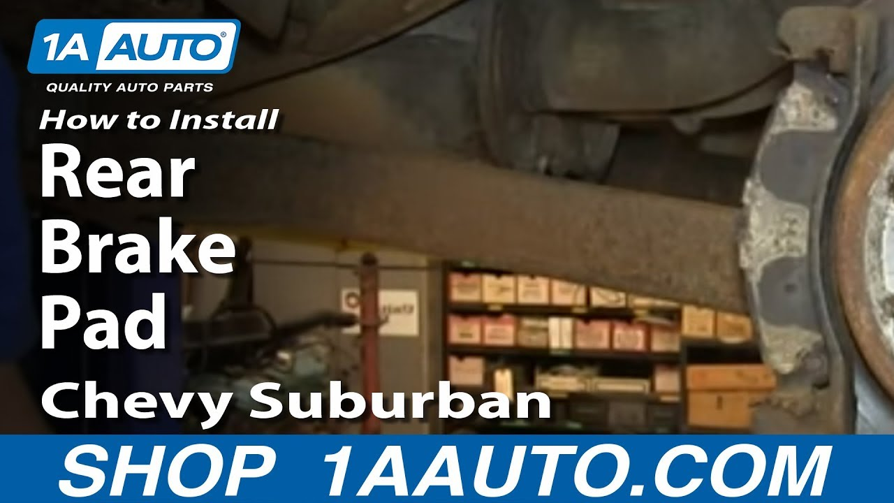 How to Replace Rear Brake Pads 00-06 Chevy Suburban