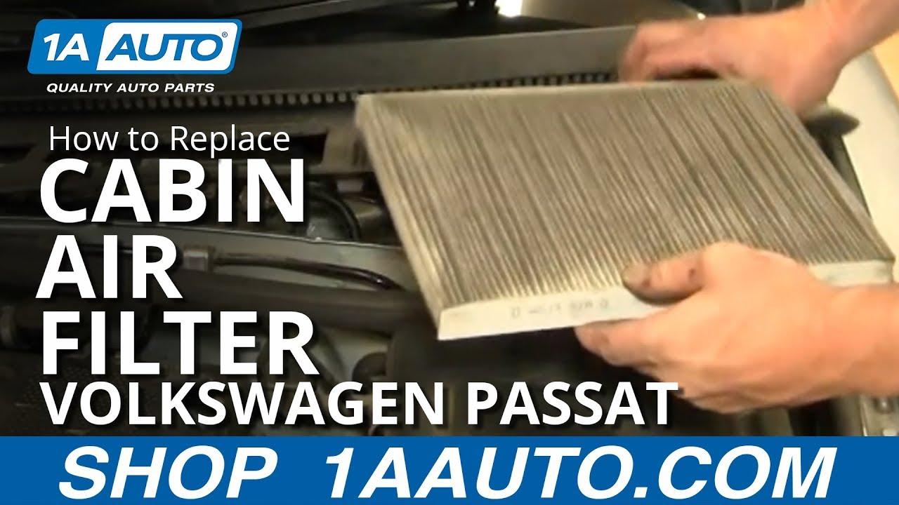 How to Replace Cabin Air Filter 01-05 Volkswagen Passat