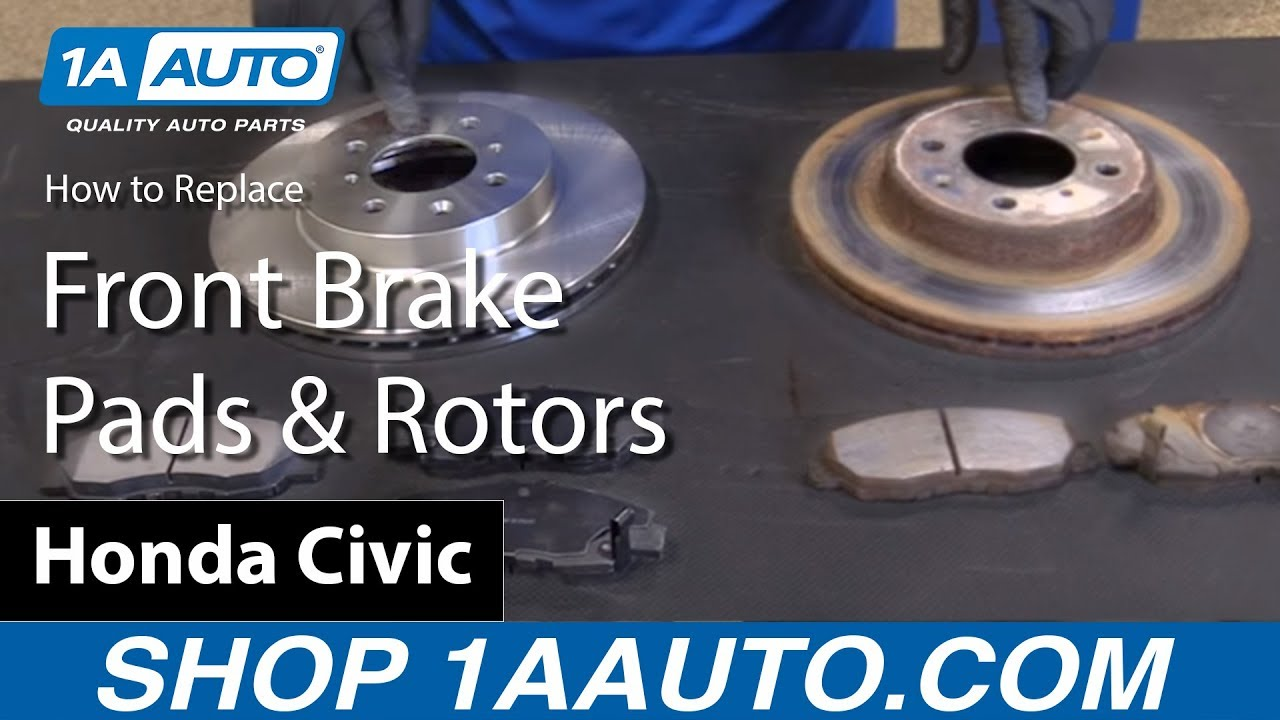 How to Replace Front Brake Pads and Rotors 01-05 Honda Civic