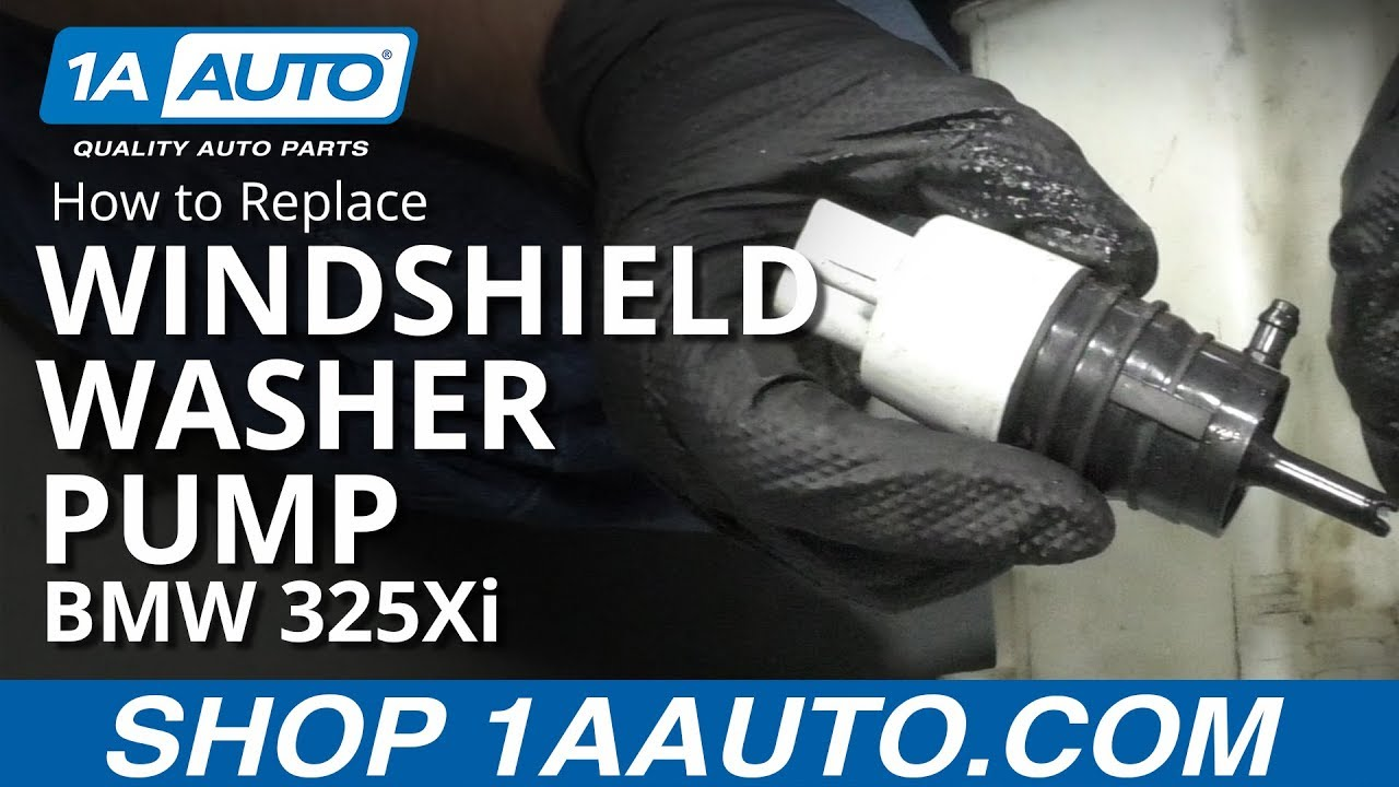 How to Replace Windshield Washer Pump 01-05 BMW 325Xi
