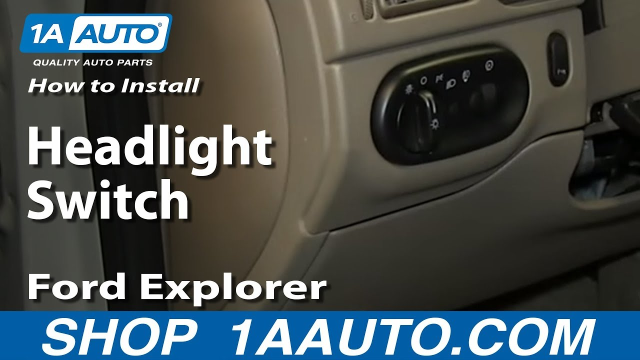 How to Replace Headlight Switch 02-05 Ford Explorer